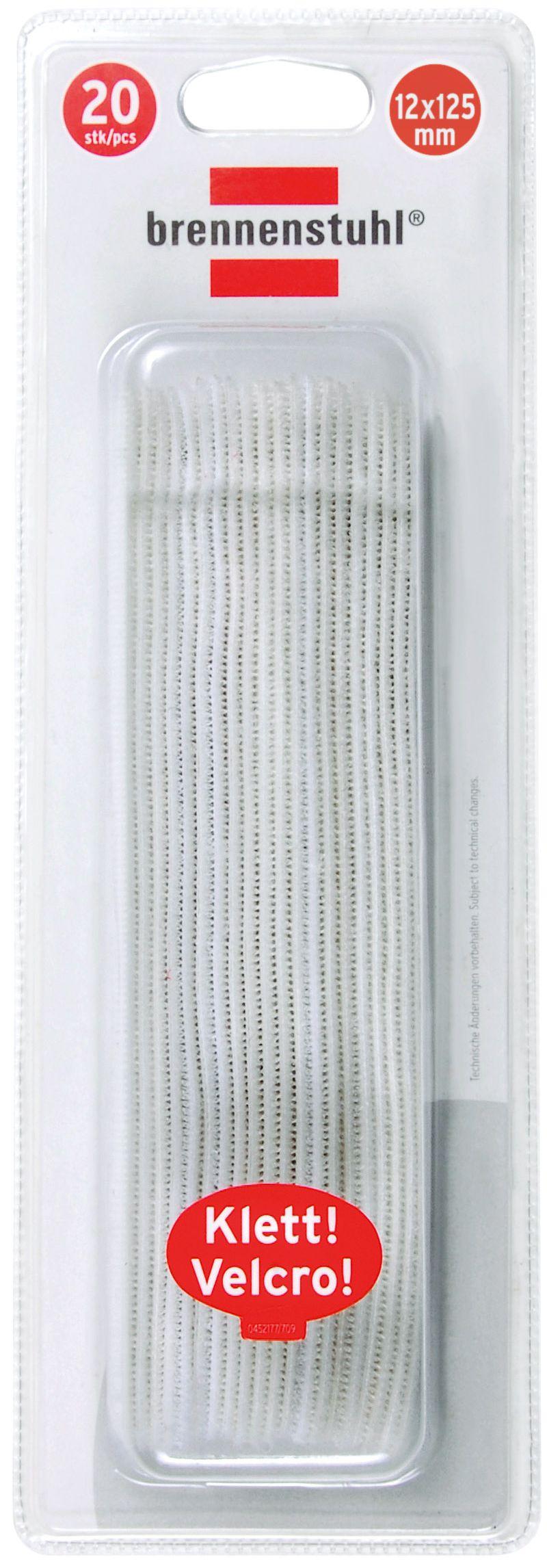 Klett-Kabelbinder wei� 12mm x 125mm