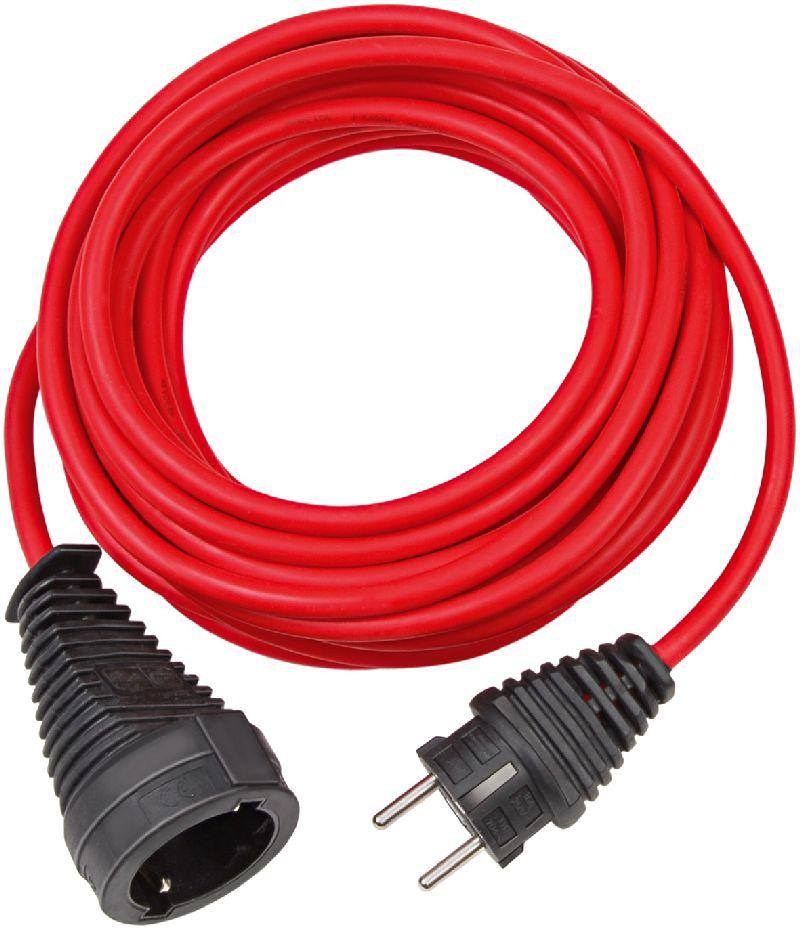 Qualitäts-Kunststoff-Verlängerungskabel 10m rot H05VV-F 3G1,5