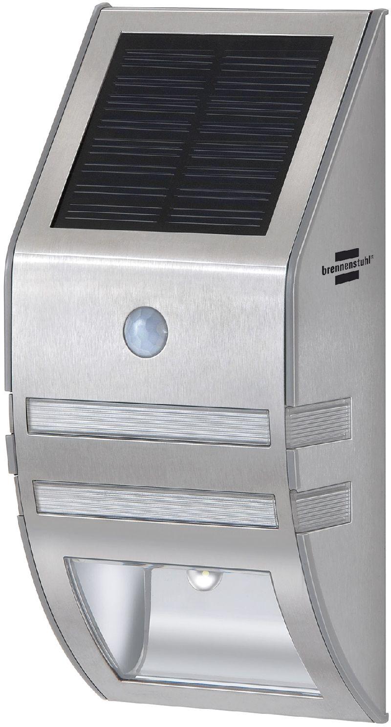 Solar LED-Wand- und Pfostenleuchte SOL WL 02007 IP44 2xLED 30lm Farbe Edelstahl