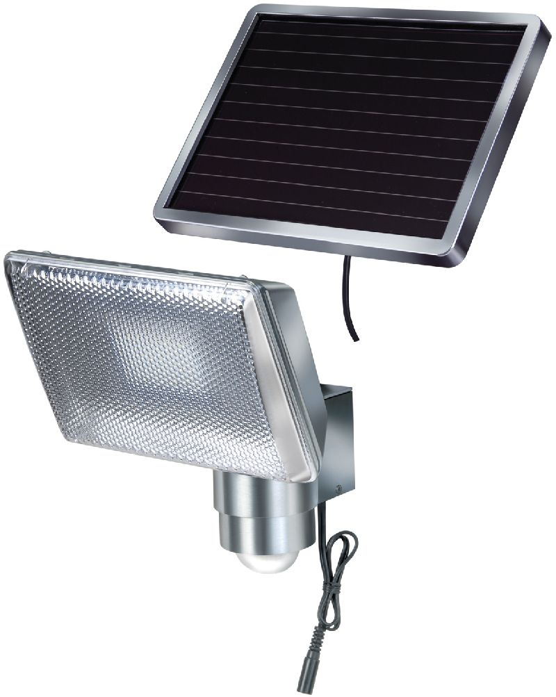 Solar LED-Strahler SOL 80 ALU IP44 mit Infrarot-Bewegungsmelder 8xLED 0,5W 350lm Kabell�nge 4,75m Farbe ALU