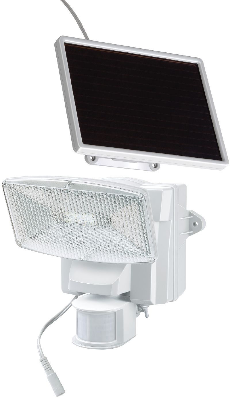 Solar LED-Strahler SOL 80 plus IP44 mit Infrarot-Bewegungsmelder 8xLED 0,5W 350lm Kabell�nge 4,75m Farbe wei�