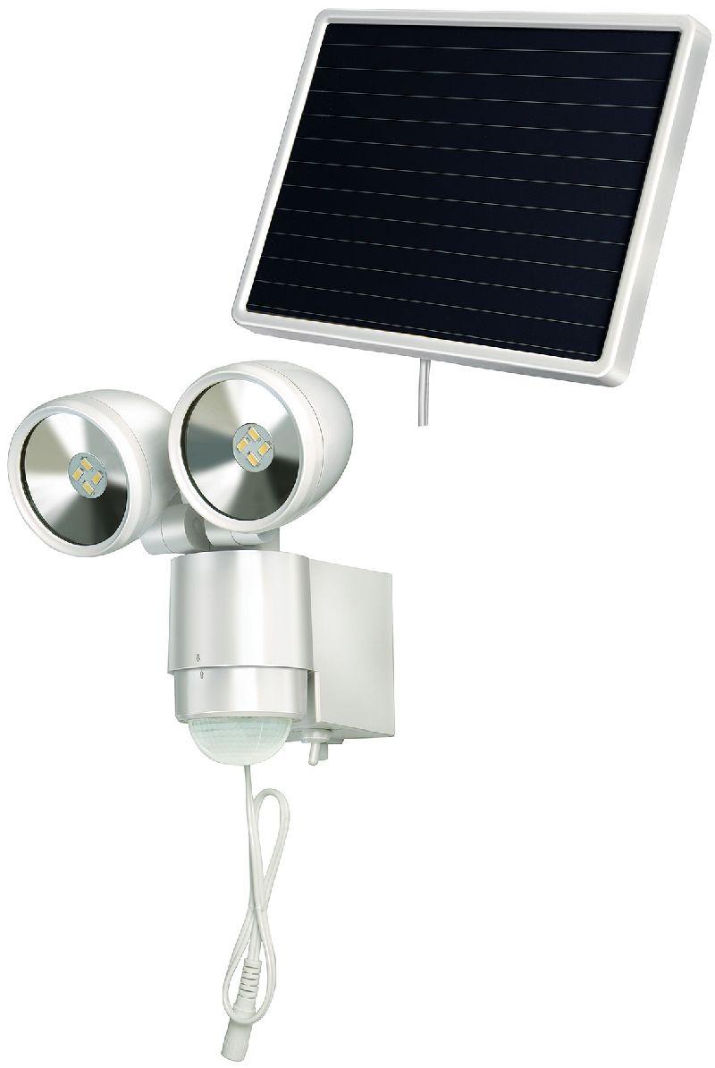 Solar LED-Spot SOL 2x4 IP44 mit Infrarot-Bewegungsmelder 8xLED 0,5W 300lm Kabell�nge 4,75m Farbe wei�