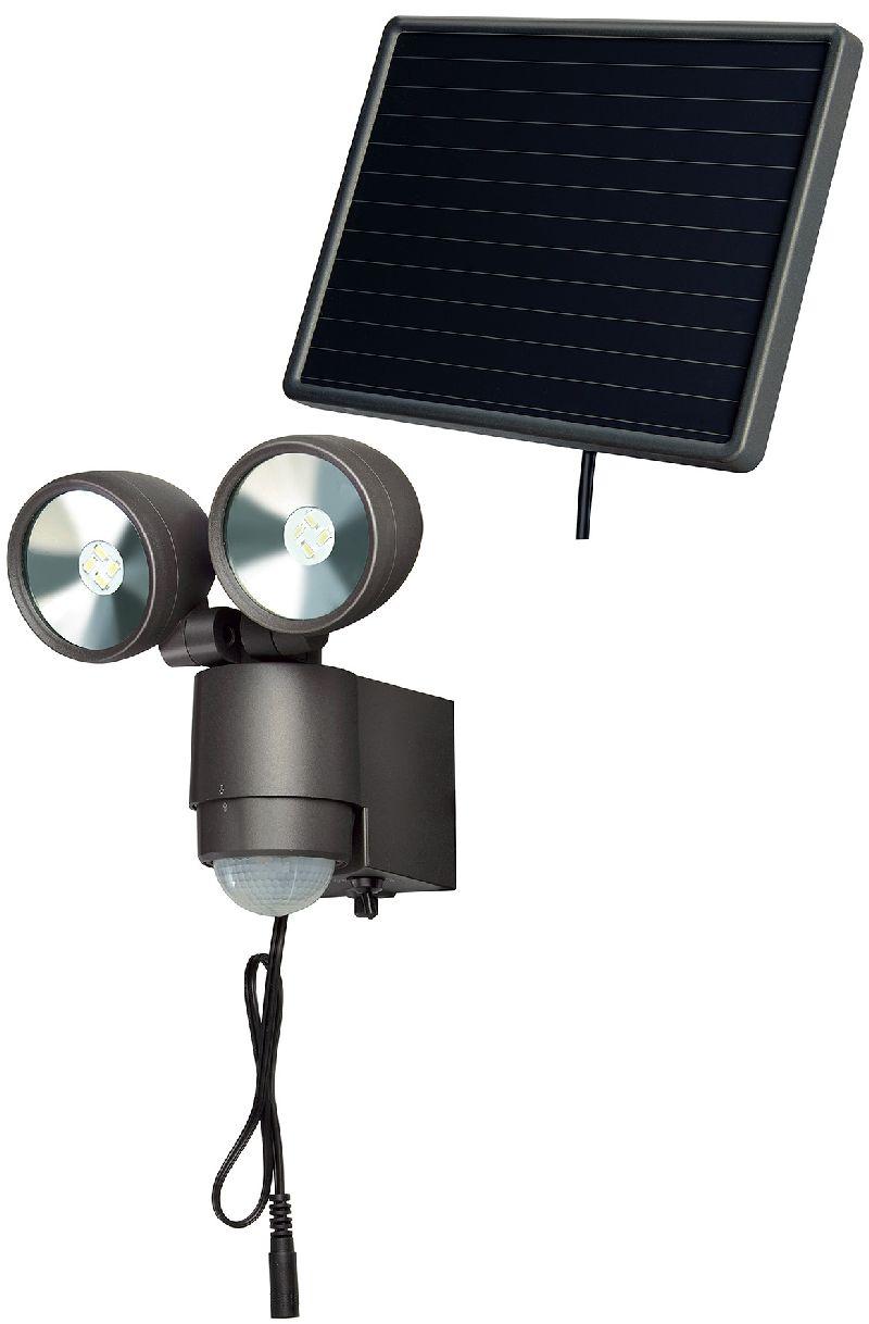 Solar LED-Spot SOL 2x4 IP44 mit Infrarot-Bewegungsmelder 8xLED 0,5W 300lm Kabell�nge 4,75m Farbe Anthrazit
