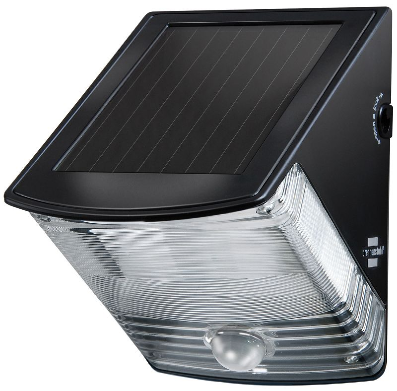 Solar LED-Wandleuchte SOL 04 plus IP44 mit Infrarot-Bewegungsmelder 2xLED 0,5W 85lm Farbe Schwarz 1/Stck ,L