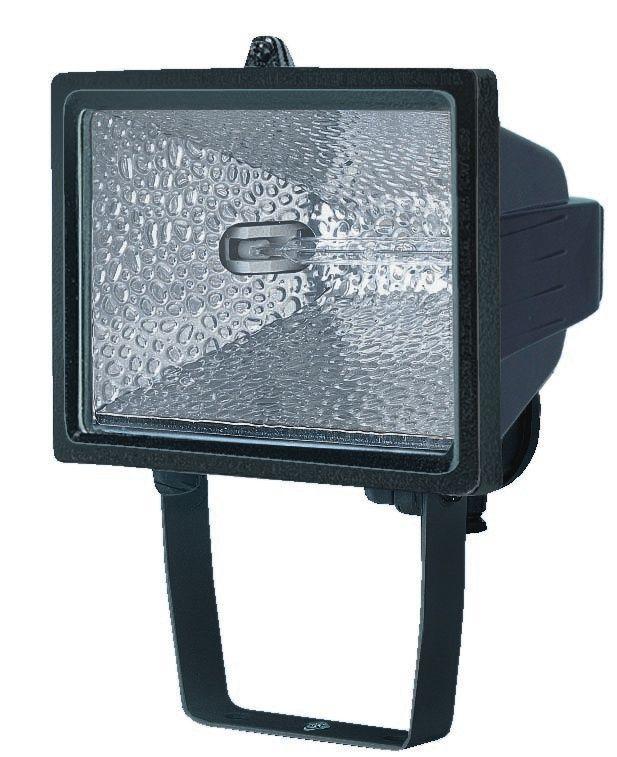 Halogenstrahler H 500 IP54 400W 8545lm schwarz Energieeffizienzklasse C