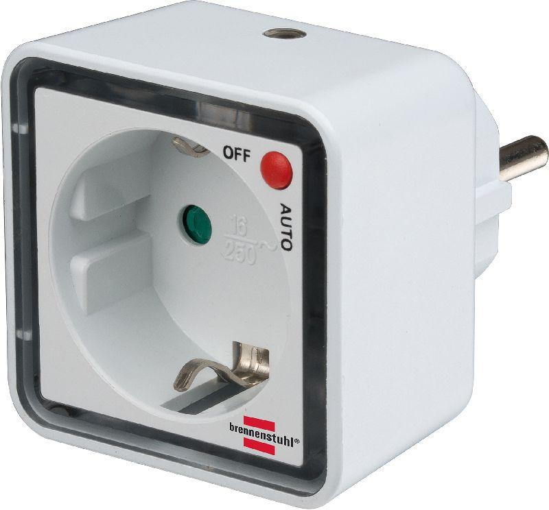 LED-Nachtlicht NL 02 ED mit Dämmerungssensor und Steckdose 2 LED 1lm Schaltfunktion Auto/aus