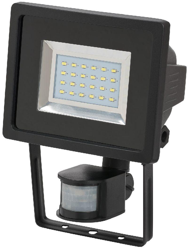 SMD-LED-Leuchte L DN 2405 PIR IP44 mit Infrarot-Bewegungsmelder 24x0,5W 950lm schwarz Energieeffizienzklasse A
