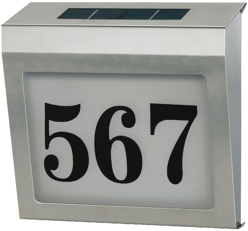 Beleuchtete Solar Hausnummer Solar Power SH 4000 IP44