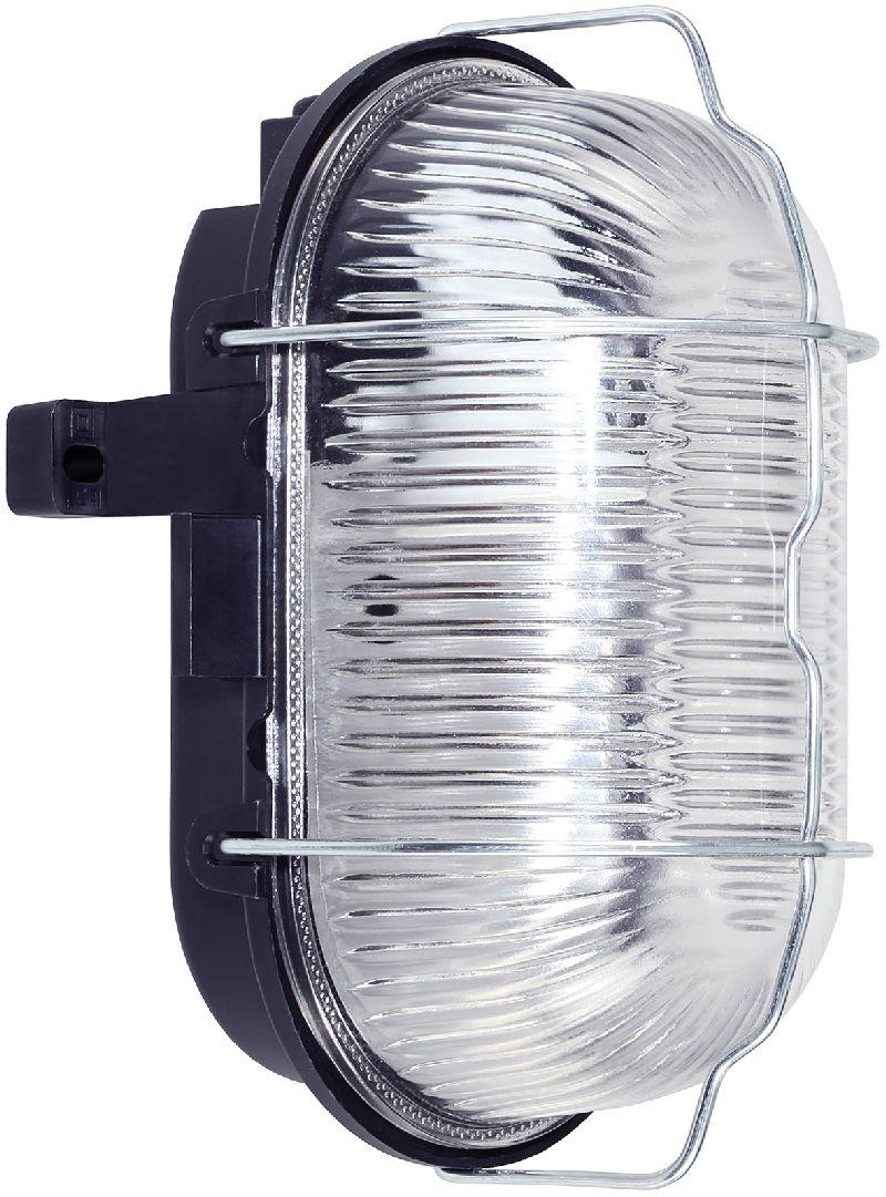 Ovalleuchte IP44 60W schwarz 1/Stck ,L