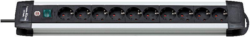 Premium-Alu-Line Steckdosenleiste 10-fach 3m H05VV-F 3G1,5