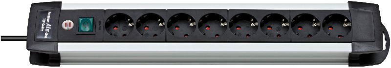 Premium-Alu-Line Steckdosenleiste 8-fach 3m H05VV-F 3G1,5