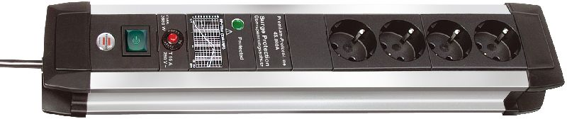 Premium-Protect-Line 60.000A �berspannungsschutz-Steckdosenleiste 4-fach 3m H05VV-F 3G1,5