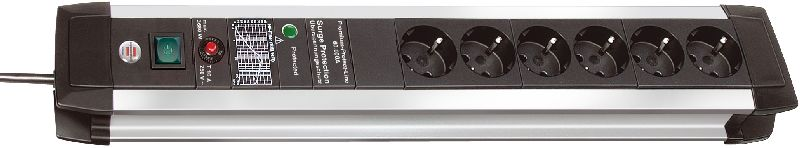 Premium-Protect-Line 60.000A �berspannungsschutz-Steckdosenleiste 6-fach 3m H05VV-F 3G1,5