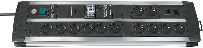 Premium-Protect-Line 120.000A Überspannungsschutz-Steckdosenleiste 12-fach DUO 3m H05VV-F 3G1,5