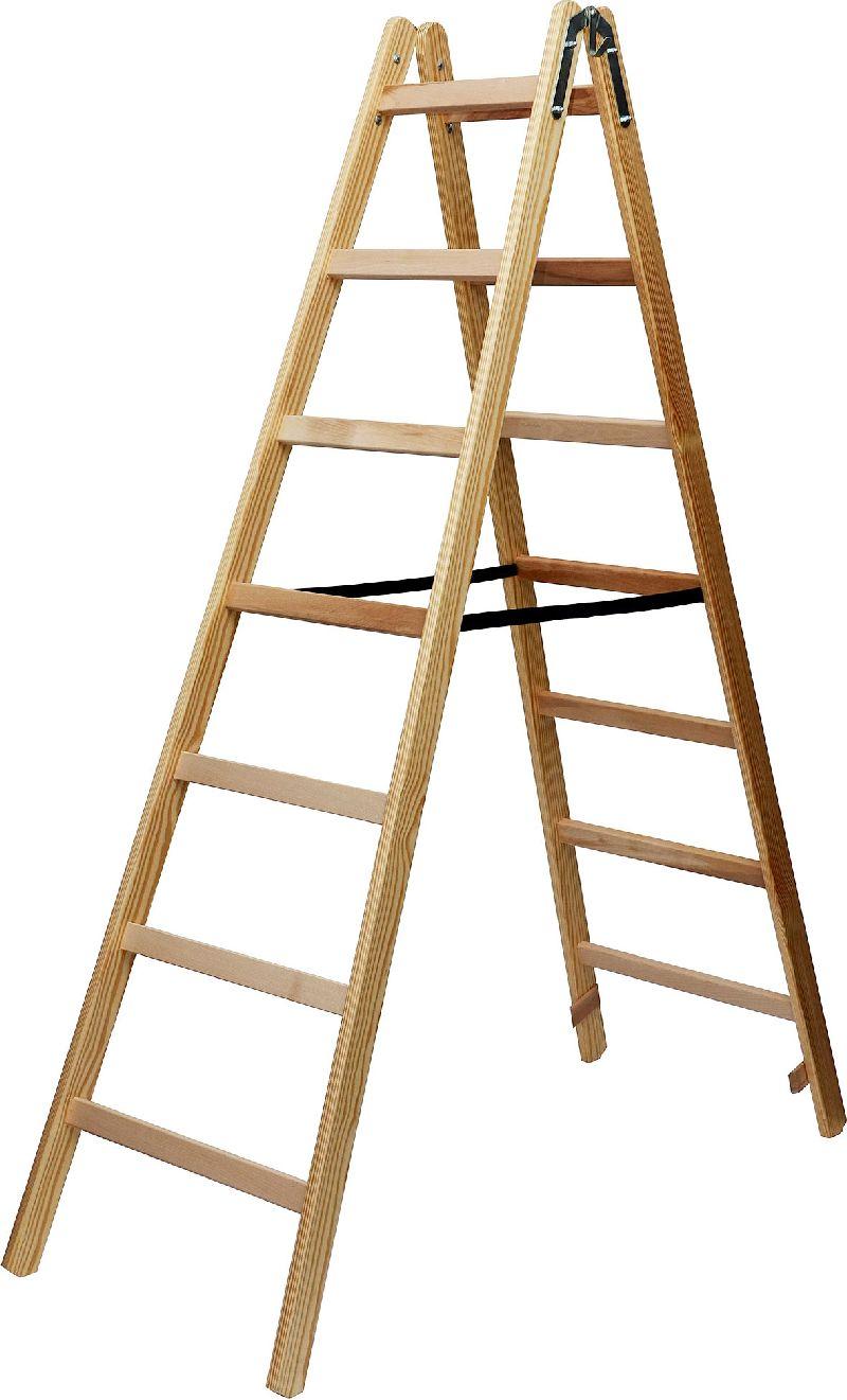 Holz-Stehleiter 2x7 Sprossen H�he Stehleiter 1,84m