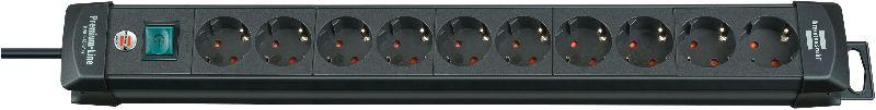 Premium-Line Steckdosenleiste 10-fach schwarz 3m H05VV-F 3G1,5