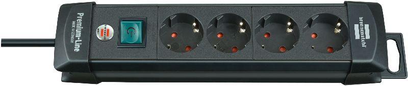 Premium-Line Steckdosenleiste 4-fach schwarz 1,8m H05VV-F 3G1,5