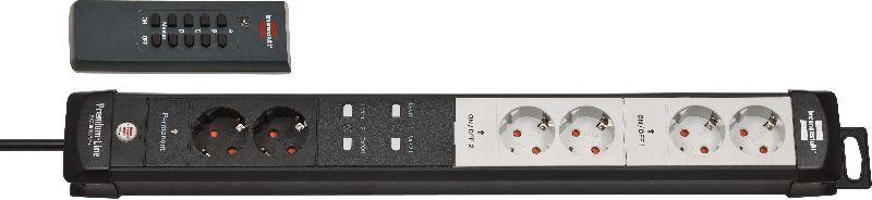 Premium-Line Funkschalt-Steckdosenleiste RC PL1 1001 6-fach schwarz/lichtgrau 3m H05VV-F 3G1,5