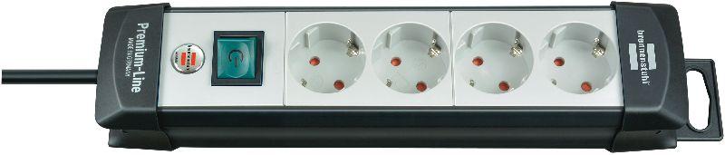 Premium-Line Steckdosenleiste 4-fach schwarz/lichtgrau 1,8m H05VV-F 3G1,5